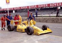 Lotus 101 Judd Donnely 1989 Silverstone test (a)